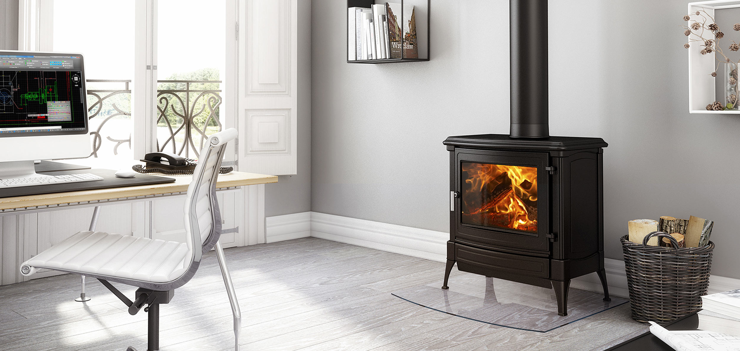 cast iron gas log heater